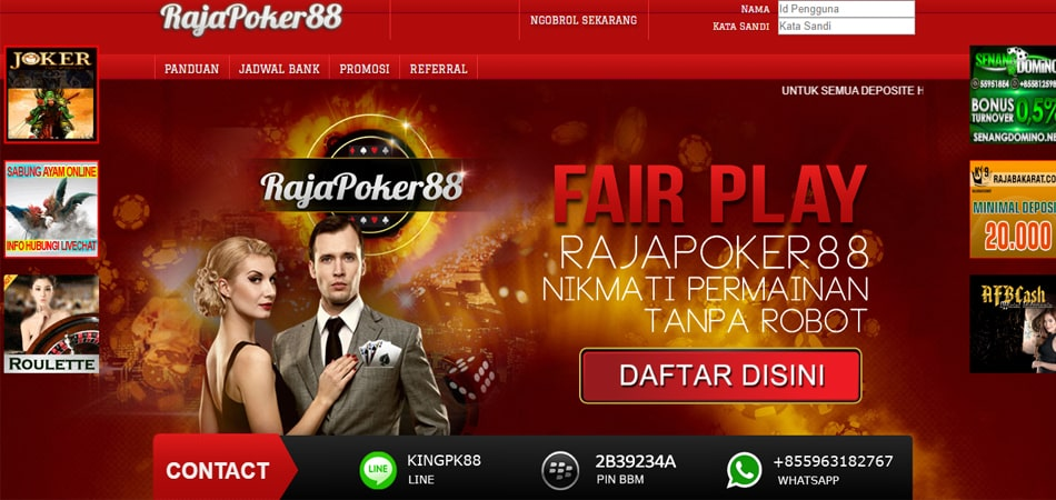 Rajapoker88 Situs Poker Pulsa , Ovo , Gopay Terpopuler Masa Kini